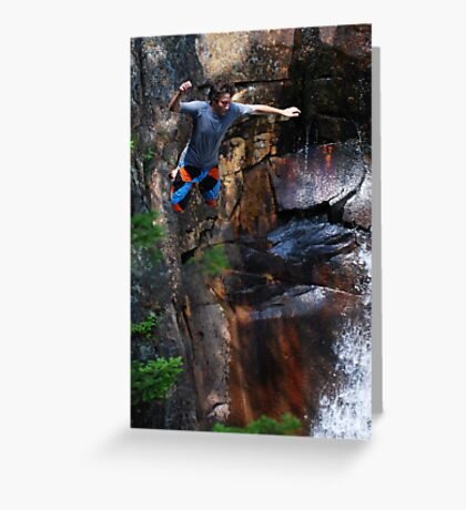 Smalls Falls Leap of Faith #7 Greeting Card