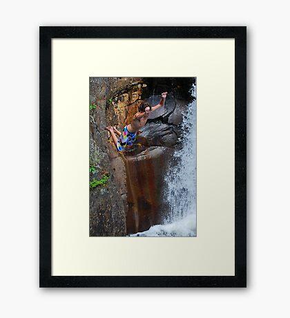Smalls Falls Leap of Faith #8 Framed Print