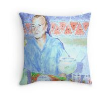 Cena y Margaritas Throw Pillow