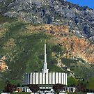 Provo Temple Summer Mountain 20x24 by Ken Fortie