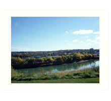 Landscape, Medicine Hat Alberta Art Print