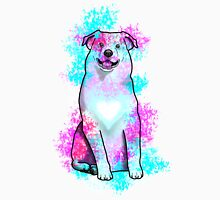 Australian Shepherd in Watercolor Splash Unisex T-Shirt