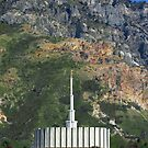 Provo Temple Summer Mountain 20x30 by Ken Fortie