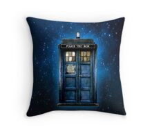 Space And Time traveller Box With yellow stained glass Throw Pillow