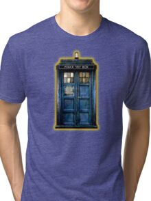 Space And Time traveller Box With yellow stained glass Tri-blend T-Shirt
