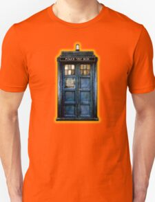 Space And Time traveller Box With yellow stained glass Unisex T-Shirt