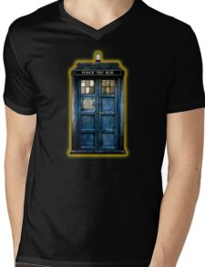 Space And Time traveller Box With yellow stained glass Mens V-Neck T-Shirt