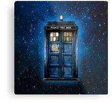 Space And Time traveller Box With yellow stained glass Metal Print