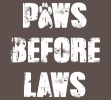Paws Before Laws One Piece - Short Sleeve