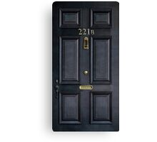 Black Door with 221b number Canvas Print