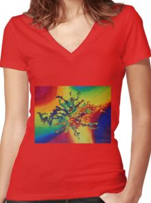 """Talisman"" original abstract artwork Women's Fitted V-Neck T-Shirt"