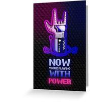 Retro Gaming Nostalgia: Power Glove Greeting Card