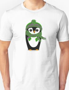 Penguin Hat, Scarf and Mittens Unisex T-Shirt