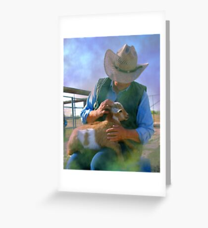 Caring for Goats Greeting Card