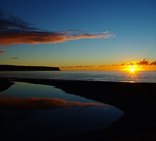 bruce bay sunset I  south westland nz by rina  thompson