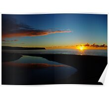 bruce bay sunset I  south westland nz Poster
