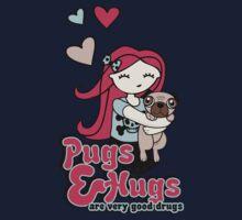 Pugs and Hugs Kids Tee