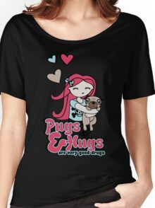 Pugs and Hugs Women's Relaxed Fit T-Shirt