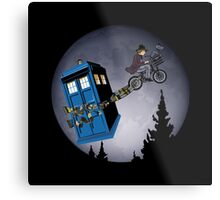 Fourth Doctor Fly With Bicycle Metal Print