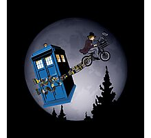 Fourth Doctor Fly With Bicycle Photographic Print
