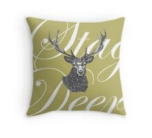 What a Stag Throw Pillow