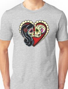 Ashes - Day of the Dead Couple - Sugar Skull Lovers Unisex T-Shirt