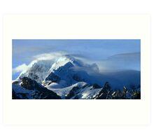 mt tasman III  fox glacier south westland  nz  Art Print