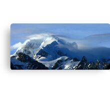 mt tasman III  fox glacier south westland  nz  Canvas Print