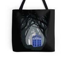 Space And Time traveller Box lost in the woods Tote Bag