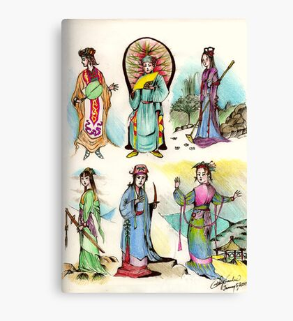 Assorted Characters From Chinese Folklore ( Hangzhou ) Canvas Print
