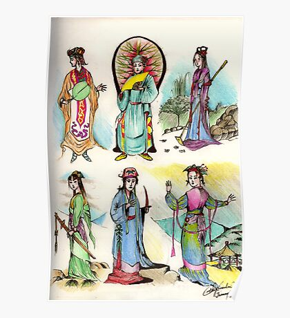 Assorted Characters From Chinese Folklore ( Hangzhou ) Poster