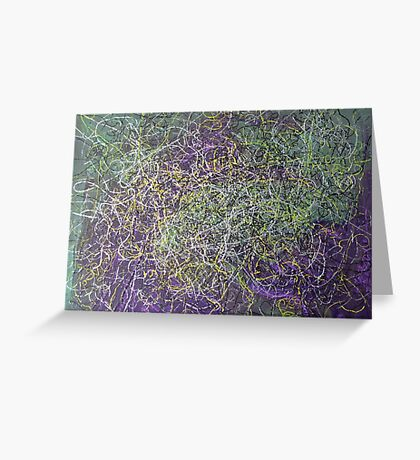 """""""Entanglement"""" original abstract artwork by Laura Tozer Greeting Card"""