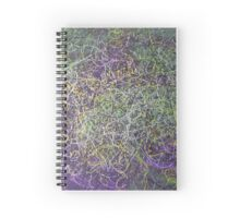 """Entanglement"" original abstract artwork by Laura Tozer Spiral Notebook"