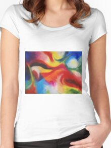 """Fiesta Nocturna"" original abstract landscape by Laura Tozer Women's Fitted Scoop T-Shirt"