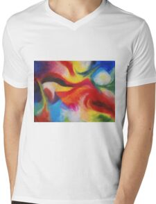 """Fiesta Nocturna"" original abstract landscape by Laura Tozer Mens V-Neck T-Shirt"