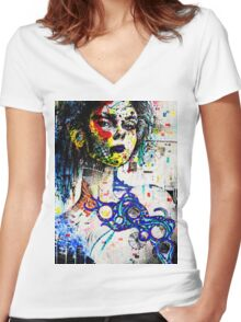 Industrial Mama Women's Fitted V-Neck T-Shirt