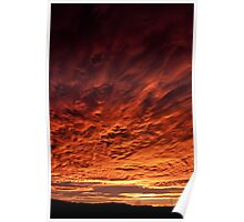 Fiery morning Poster