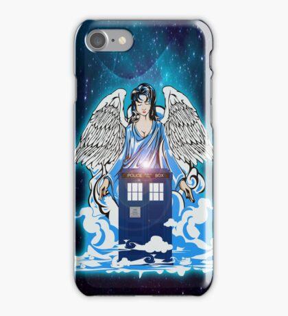 The angel has a phone box iPhone Case/Skin