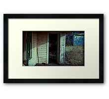 what's he doing in there? Framed Print