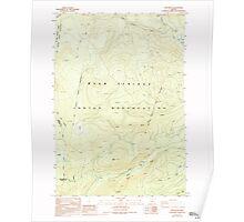 USGS Topo Map Oregon Fort Butte 279924 1988 24000 Poster