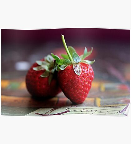 Strawberries -Still Life Poster