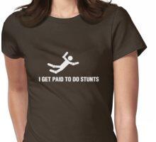 Professional Stuntman/Stuntwoman Shirt (White) Womens Fitted T-Shirt