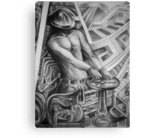 ALEGORY OF MY CITY (POZA RICA) Canvas Print