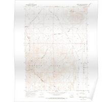 USGS Topo Map Oregon Rabbit Hills SW 281209 1967 24000 Poster