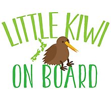 Little kiwi on board (New Zealand baby maternity pregnancy design) Photographic Print