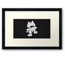 Monstercat Black and White Framed Print