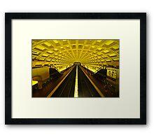 Gold Tunnel in D.C. Framed Print