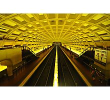 Gold Tunnel in D.C. Photographic Print