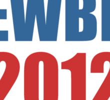 Stewbert 2012 Red/Blue B Sticker