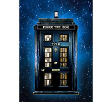 Space Traveller Box with 221b number Photographic Print